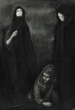 HP: Rosmerta and Deatheaters by cogdis