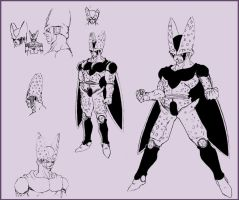 Perfect Cell sketch by DBZwarrior