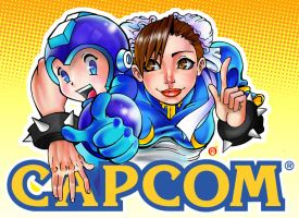 CAPCOM Cover - Li and Mega by shonemitsu