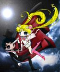 Sailor Moon And Tuxedo Mask by lcwpaintme3