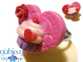 I heart Cupcakes Ring by colourful-blossom