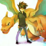 Green and Charizard's profile by Luppia