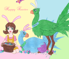 A Chocobo's Easter by Ragnawing