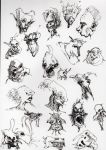 ball point pen imaginary sketches by FabriceW