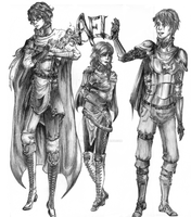 The Three from Ael by Mlle-Tenebrist