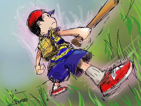 Ness Prepares to Fight by Ranbooby