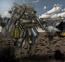 French Type XT10  Battle Mech Squale by Taurus-ChaosLord