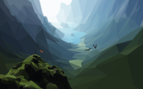 Low Poly Mountains - HD by PlebMaster