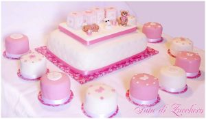christening cake and mini cake by Dyda81