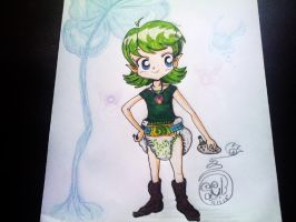 Diapered Saria! by SuperCuteBomb