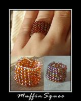 Large beaded ring by MuffinSquee
