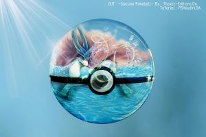 Suicune Water pokeball by Thoxiic-Editions
