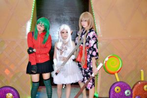 Gumi,Elf girl and Taiga! by Lawrielle21