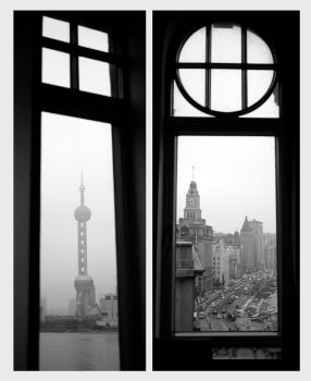 Shanghai from the windows by Yuan-Y