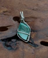 Small turquoise pendant R by lamorth-the-seeker