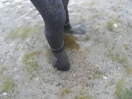 Wee Feet in the Sea, Scotland by SheepSlave