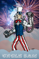 Steampunk Uncle Sam by herrenmedia