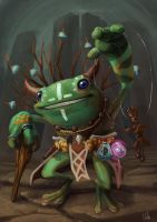 Frog Shaman by whiteoxygen