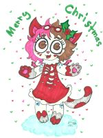 Cute Merry Christmas from Miss Kitty  by Kittychan2005