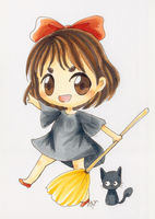 Copic Chibi Kiki's Delivery Service by sleepypandie