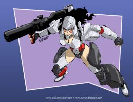 Transformers Shoujo Megatron by iq40