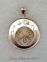 Art nouveau pendant by Mamselli