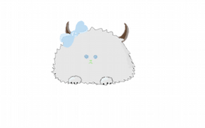 Grey Fuzzball by PipDesign