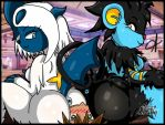 Sexy Pokemon - Absol and Luxray Facesitting by Fhastina