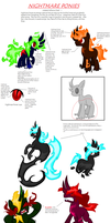 ~UPDATED~ Nightmare Ponies Reference Sheet by zX-ShadowLugia111-Xz