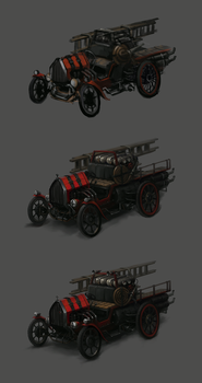 Firefighter Car Concept Process by LimonTea