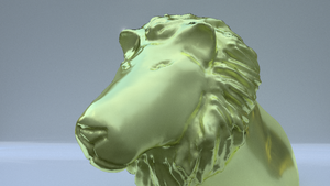 #Sculptember Day 1 -- Lion by gradyp