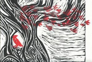 Wisdom of trees - Red Raven 2 by dreamling