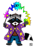 Magic Raccoon by Djigallag