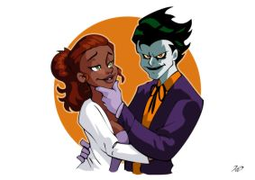 Art Trade - Desiree and the Joker by RickCelis