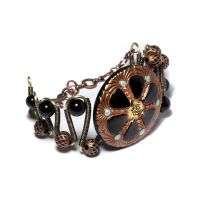 Steampunk bracelet urchin 2 by CatherinetteRings