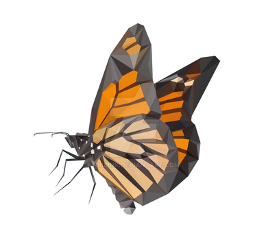 Low Poly Monarch (Print Now Available) by Nibbink