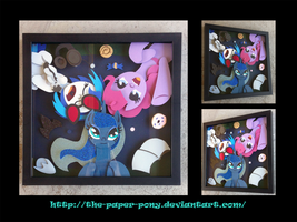 Commission: Slumber Party Shadowbox by The-Paper-Pony