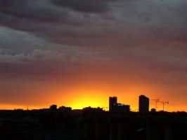 Paris Sunset a simple view by emalterre