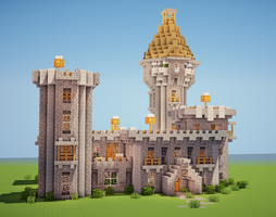 Minecraft Castle by Trinapple