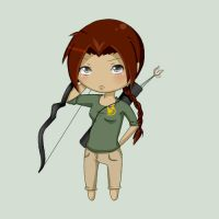 HG Chibis - Katniss Everdeen by SammyPacks