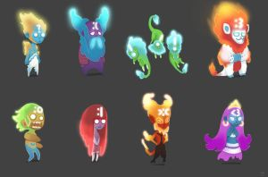 Emoticon Ghosts by Trudsss