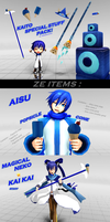 [MMD] Kaito Special Stuff pack [Download UP!] by AochiYoruneko