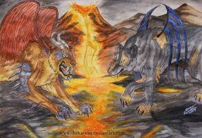 War of the Beasts by TheKarelia