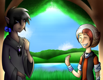 Leven and Eibiu At the Lake by KATEtheDeath1