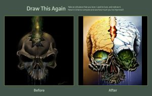 Draw this again Natureskull by Threepwoody