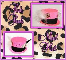 Pink Punk Mad Hatter Hat by Lolanova