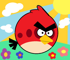 Red Angry Bird by PinkDragon159