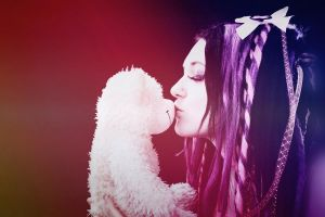 cybergoth girl's kiss by mysteria-violent