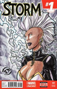 Storm - Sketch Cover in Watercolors by josesartcave