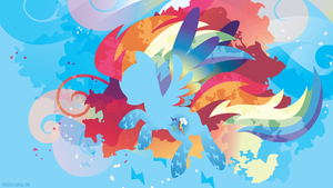 Rainbow Power Rainbow Dash Silhouette Wall by SambaNeko